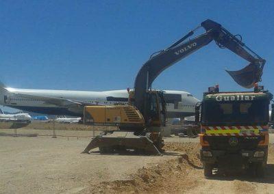 Trabajos en aeropuerto de Teruel