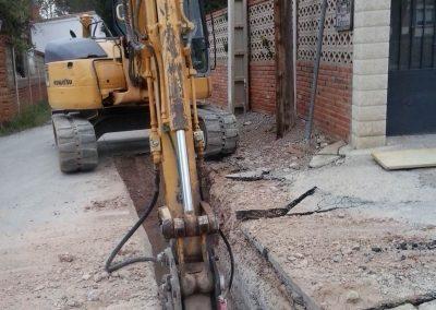 Construcción Zanja Urbanización las Viñas