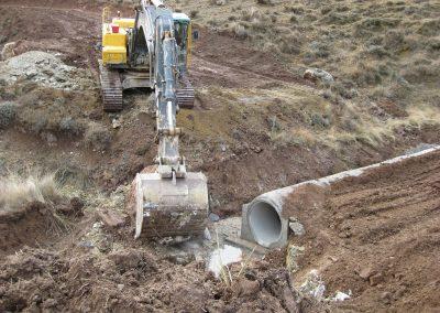 Obras en redes de saneamiento