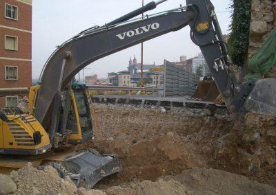 Excavación para construcción entrada parking la Glorieta